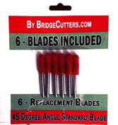 Standard Replacement Cutting Blades for Craft Cutting Machines, 6 blades