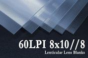 8x10//8 3D Lenticular Lens Blanks w/ Instructions (Qty