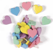 Hot Off The Press Shaped Brads By Hot Off The Press, Pastel Chubby Hearts 25/Package