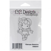 C.C. Designs Swiss Pixie Cling Stamp, 8.9cm by 3.8cm , Cupcake Birgitta