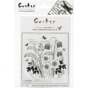 Crafty Individuals Unmounted Rubber Stamp, Spring Flower Garden