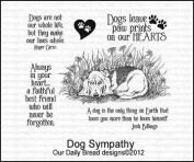 Dog Sympathy - Cling Rubber Stamps