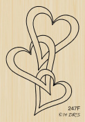 Interlocking Hearts Rubber Stamp By DRS Designs