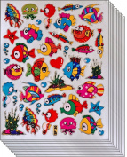 Jazzstick 300 Glitter Fish Scrapbook Decal Stickers Value Pack 10 sheets 09A08