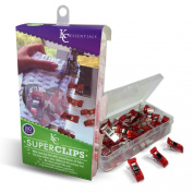 Quilting Clips (50 Pack) - Perfect for Patchwork, Appliqué & Craft - By KC SUPER CLIPS