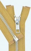 70cm Jacket Zipper, YKK #5 Aluminium Metal ~ Medium Weight ~ Separating ~ 508 Golden Brown