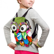 TOP Asian Souvenirs Owl Backpack Adorable Patchwork