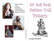 70cm Fashion Mediaeval/Elizabethan/Irish Doll Pattern