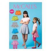 McCall Pattern Company M6918 Children's/Girls Skorts, Size CHJ
