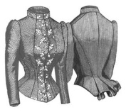 1884 French Vest Bodice Pattern