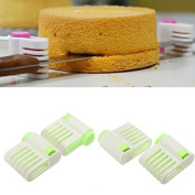 sany58520 5 Layers DIY Cake Bread Cutter Leveller Slicer Cutting Fixator Tools