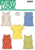 New Look Sewing Pattern 6483 Misses Tops, Size A