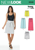 New Look Patterns UN6348A Misses' Easy Knit Skirts, A