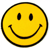 Smiley Happy / Smile Face Logo Badge Iron on Patches