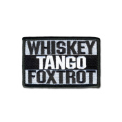 TACTICAL COMBAT BADGE MORALE hook and loop MILITARY PATCH WHISKEY TANGO FOXTROT BNW