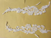 White Bridal Gown Skirt Veil Accessories Lace Trim Lace 41cm Hight By Pair