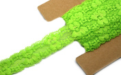Stretch Lace Elastic - 5 Yards - 2.5cm Wide - Trim Lace for Headbands Weddings