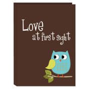 Pioneer Photo Albums I-46B/O 36-Pocket Baby Owl Designer Photo Album, Blue