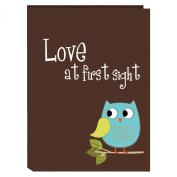 Pioneer Photo Albums I-46B/O 36-Pocket Baby Owl Designer Photo Album, Blue