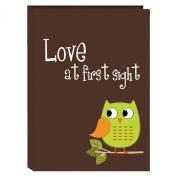 Pioneer Photo Albums I-46B/O 36-Pocket Baby Owl Designer Photo Album, Green