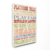 The Kids Room by Stupell Playroom Rules Four Colours Canvas Art