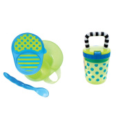 Sassy First Solids Feeding Set, Blue/Green