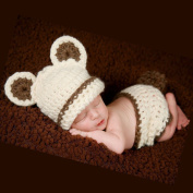 FuzzyGreen®Cute Baby Infant Photography Prop Bear Costume Cute Crochet Knitted Baby Hat Nappy Knitted Outfit Animal Costume girl Boy+Gift