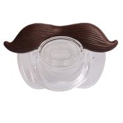 Viskey Funny Silicone Baby Shower Pacifiers, Brown Beard