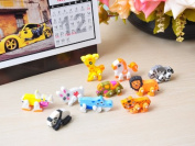 1x Cartoon Movable Animals Rubber Eraser School Children Toy Student Gift