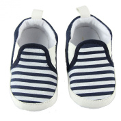Fairy Season Baby Unisex Cotton Blend Soft Sole Navy Stripe Cloth Shoes