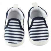 Fairy Season Baby Unisex Cotton Blend Soft Sole Navy Stripe Cloth Shoes