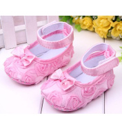 Cute Baby Girl Crib Shoes Comfortable Soft Sole Anti-Slip Sandal Princess Rose Flower Infant Toddler Shoes Pink
