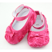 DDU(TM) 1 Pair Hot Pink- Rose Style Soft Warm Princess Shoes for Baby Girl(Size