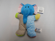 Beverly Hills Plush Beanie Baby Rattle Elephant