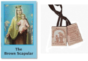 Blessed By Pope Francis Our Lady of Mt Carmel Traditional Brown Cord Cloth Scapular