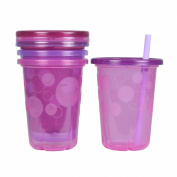The First Years Straw Cup, Pink Take and Toss, 300ml, 4-Count