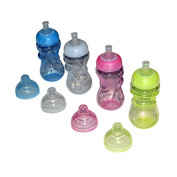 Sharebear BPA Free Sippy Cups - Leak Proof, Spill Proof - Dishwasher Safe - Your Baby or Toddler Will Love the Easy Grip Hold - 4 Pack 350ml