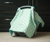 Carseat Canopy (Hayden) Baby Infant Car Seat Cover W/attachment Straps and Minky Fabric