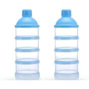 SySrion Non-Spill Baby Milk Powder Dispenser / Storage Container, Blue