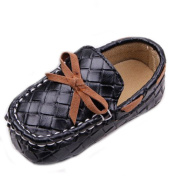 ELee Baby Toddler Handmade Sewing Artificial Leather Vamp Soft Sole Loafers Training Crib Shoes