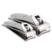 Klipit Nail Clipper Set - Fingernail + Toenail - Stainless Steel