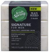 Irish Spring Signature Exfoliating Bar Soap, 180ml, 3 Count