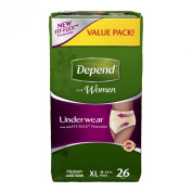 Depend for Women Incontinence Underwear, Maximum Absorbency, X-Large 26 Count