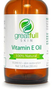 Vitamin E Oil By GreatFull Skin, 100% Natural - 10000 IU, 30ml