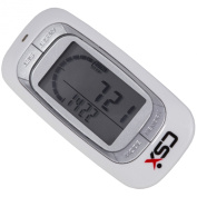 CSX Walking 3D Pedometer Activity Fitness Tracker, White