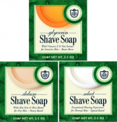 Van Der Hagen Shave Soap Variety Pack One Each of 3 Types