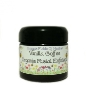 Organic Hydrating Gentle Coffee Facial Scrub - 100% Organic Non-GMO Ingredients - * Now With Organic Manuka Honey!* Vanilla Coffee Facial Scrub & Exfoliant is gentle on the delicate facial skin - Natural Aloe Vera hydrates & Softens - increases circula ..