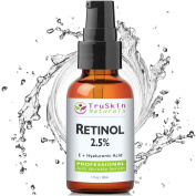 BEST Retinol Serum for Wrinkles & Fine Lines -2.5% Vitamin A + Hyaluronic Acid, Vitamin E, Organic Green Tea, Jojoba Oil - Works Best With TruSkin Naturals Vitamin C Anti Ageing Serum -