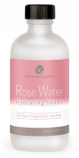Pure Rose Water Facial Toner - Cleansing, Hydrating & Moisturising - The BEST Natural Skin Care Product - Organic Rosewater With Witch Hazel - Alcohol Free