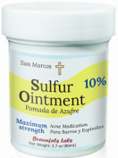 10% Sulphur Ointment - Acne & Skin Care. Go All Natural ! No PEG